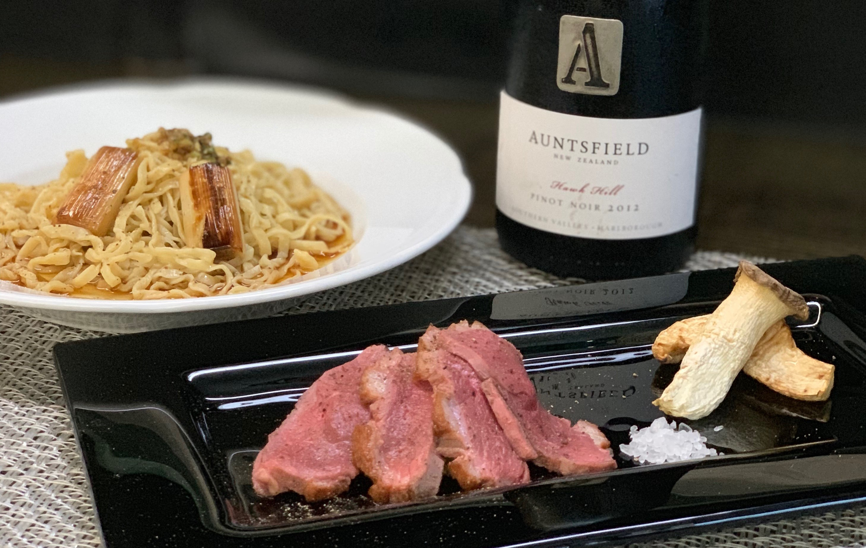 鴨ロース冷製パスタ<br>(Roasted Duck breast<br>& Cold Pasta)